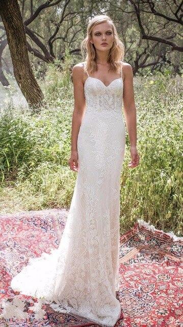 405f6c1ec7 2017 New Style Sheer Corset Bust Lace Wedding Dresses Spaghetti Straps  Sleeveless Open Back Bridal Vestidos hws02