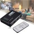 HDMI Истинной Матрицы 3/5 Порт HDMI Switcher Переключатель HDMI Splitter концентратор Коробка для PS3 для Xbox 360 HDTV DVD с ИК-Беспроводной пульт дистанционного управления