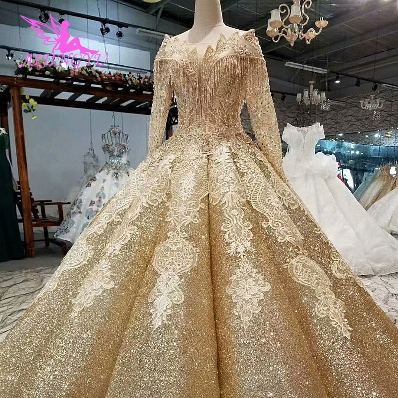 Classic Wedding Gowns 2018: AIJINGYU Wedding Gowns For Bride With Sleeve Fabric 2018