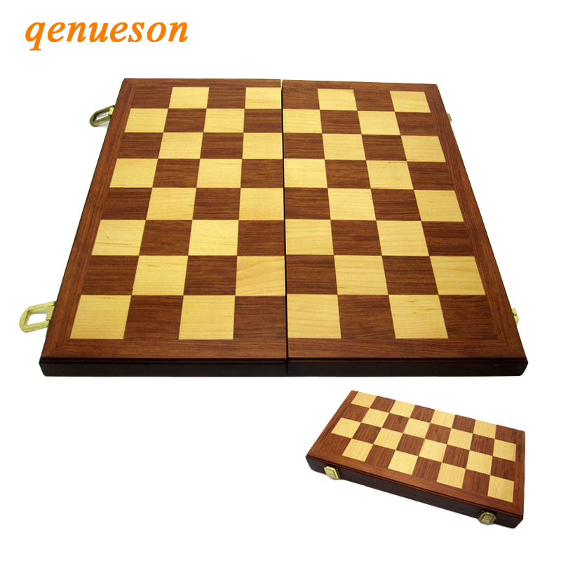 High Quality 38cm*38cm Folding Wooden Chess Set Solid Wood Chessboard Box No Magnetic And Chess Pieces Entertainment Board Games все цены