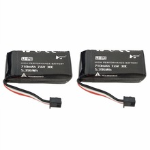 2PCS 7 6V 710mAh lithium battery for the spare parts battery of Hubsan H122D four-axis drone cheap Vehicles Remote Control Toys Composite Material Batteries - LiPo Assemblage Assembly Category Helicopters BLLRC