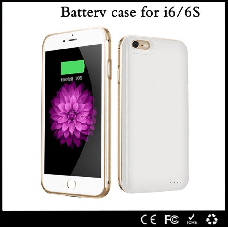 imágenes para Para iphone 6 caso 2017 de metal ultra delgado 2300 mah energía externa cargador de batería de reserva cubierta del caso de la energía bank para iphone 6 6s