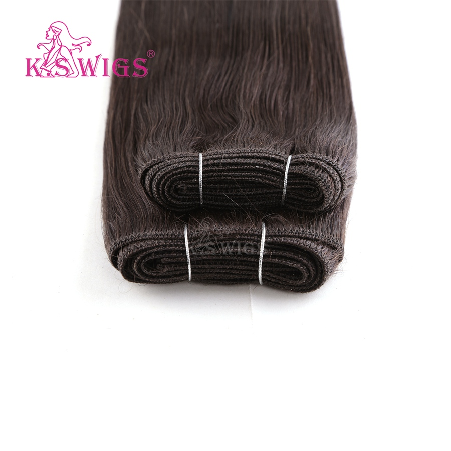K S WIGS 16 39 39 Double Drawn Hair Weave Bundles Straigh Remy Human Hair Weft 110g in Hair Weft from Hair Extensions amp Wigs