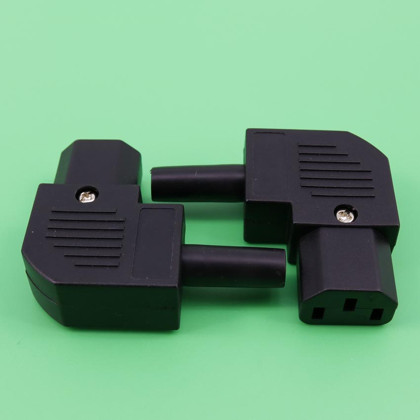 YuXi IEC320 C13 Female Plug Right Angle Side Entry / UPS Audio socket plug / 10A / 16A AC Power Industrail socket