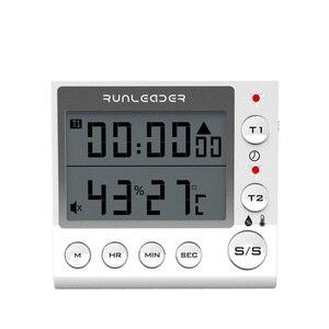 Image 5 - Timer de cozinha Temporizador de Contagem Regressiva Digital 2 Canal LED Piscando para o Laboratório Eletrônico Lição de Casa Cozinha Cozinhar Exercício Gym Workout