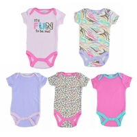 5pcs Set 2014 Newborn Gift Baby Bodysuit For Girl Boy Fantasia Infantil Body Jumper Overall Summer
