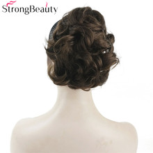 Strong Beauty Synthetic Short Fake Chignon Hair Piece Curly Clip-in