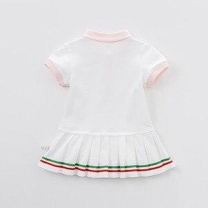 Image 5 - DB7614เดฟเบลล่าเด็กสาวกีฬาชุดเด็กทารกเด็กวัยหัดเดินผ้าฝ้าย100%เสื้อผ้าเด็กฤดูร้อนน่ารักลูกเล่นชุด