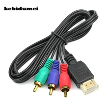 kebidumei Male   Female HDMI To 3RCA 3FT Video Audio Component Convert Cable Hub 3 RCA AV Cord Adapter For HDTV  VGA