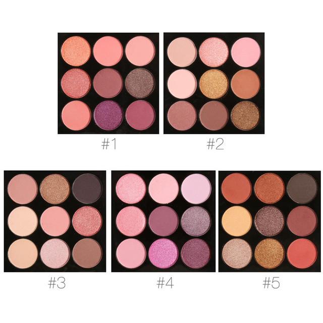 5 CONJUNTO Shimmer Smoky Eye Shadow Palette 9 Cores de Maquiagem Paleta Da Sombra Da Composição Da Paleta Da Sombra Matte &