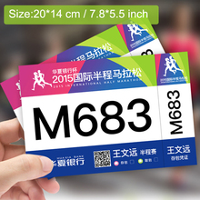 Running Bib Large Numbers Sports Bib Tags with Safety Pins for Marathon Races and Events Tyvek Tearproof and Waterproof 20*14 cm