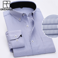 Spring New 2017 Striped Men Dress Shirt Comfortable Cotton Leisure Styles Fashion Casual Men Shirts Plus