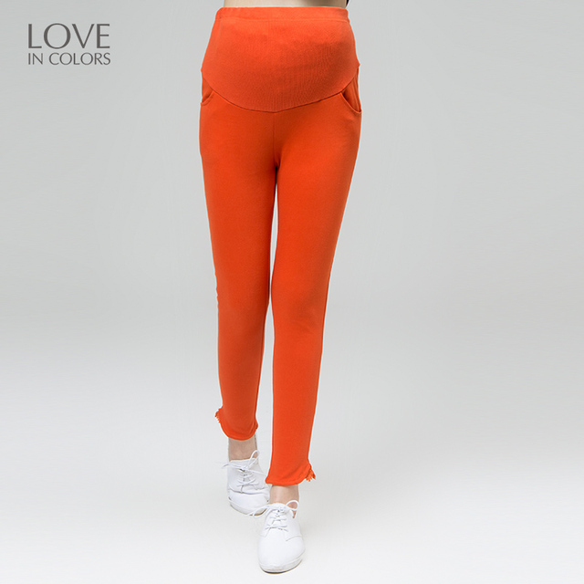 c6703f795d2d Loveincolors Maternity Jeans Pants High Waist Breathable Solid Comfortable  Support Belly Lace Soft Pregnant Women Clothings