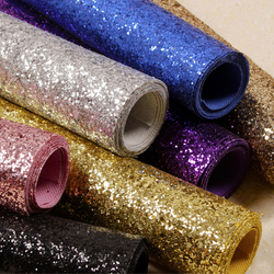 Fabric Textile Wall Coverings Light Silver Glitter Wallpaper Roll, Black Glitter Home Decoration Wallcoverings SG002