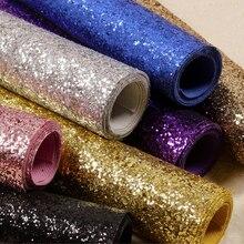 Fabric Textile Wall Coverings Light Silver Glitter Wallpaper Roll, Black Glitter