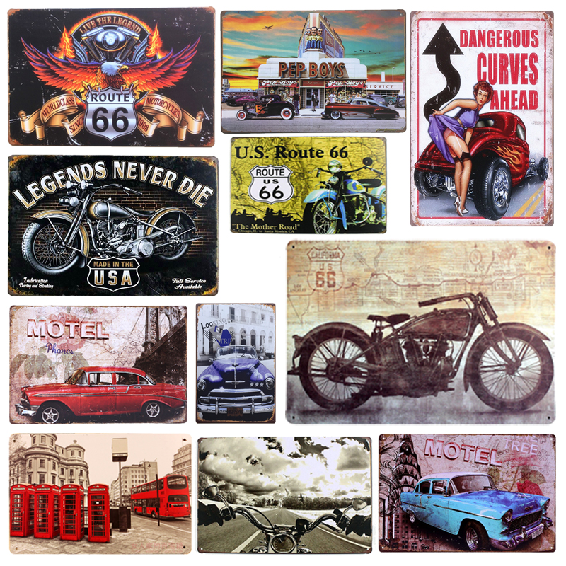 Neon Signs For Sale >> Aliexpress.com : Buy Plaque Car Theme Vintage Metal Tin Signs Motorcycle Wall Poster Decals ...