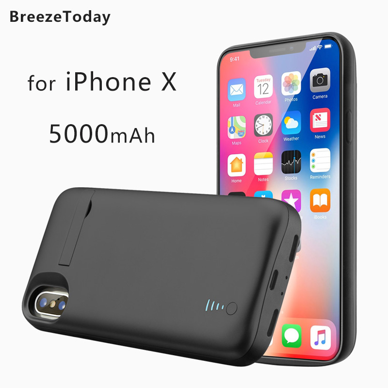 Power Case Battery Case For iPhone X 5000mAh Battery Charging Case Charger Case batterie externe Power Bank чехол аккумулятор|Battery Charger Cases| |  - title=