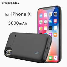 Power Case Battery Case For iPhone X 5000mAh Battery Charging Case Charger Case batterie externe Power Bank чехол аккумулятор