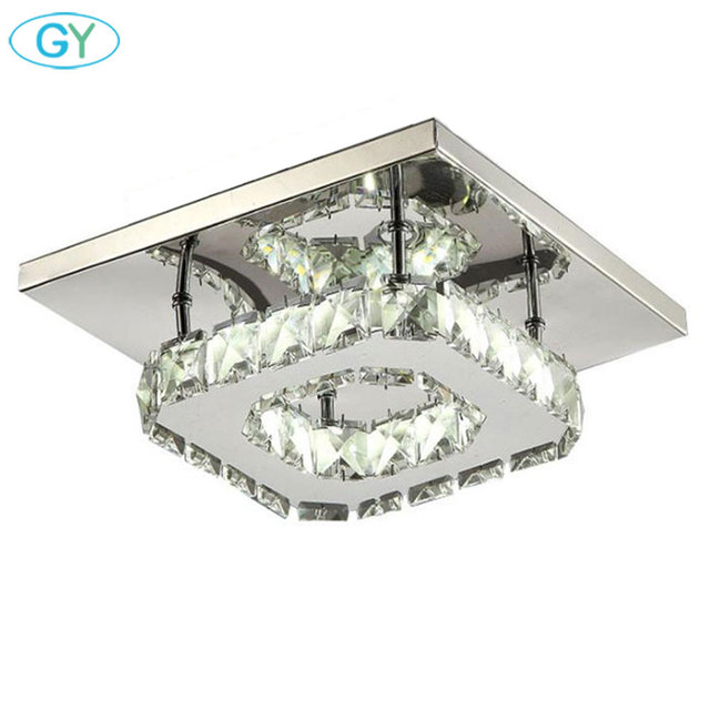 AC100-240V 12W led ceiling chandeliers square balcony Aisle Porch Hallway Stairs crystal chandelier lustres kitchen LEDs lumiere