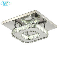 AC100 240V 12W led ceiling chandeliers square balcony Aisle Porch Hallway Stairs crystal chandelier lustres kitchen LEDs lumiere