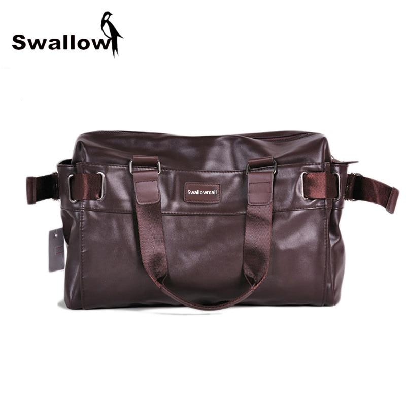 Large Capacity Men's Travel Shoulder Bag PU