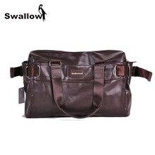 Большой Ёмкость мужская дорожная сумка из искусственной кожи винтажные Высокое качество многофункциональный сумки сумочка на молнии весна бизнес