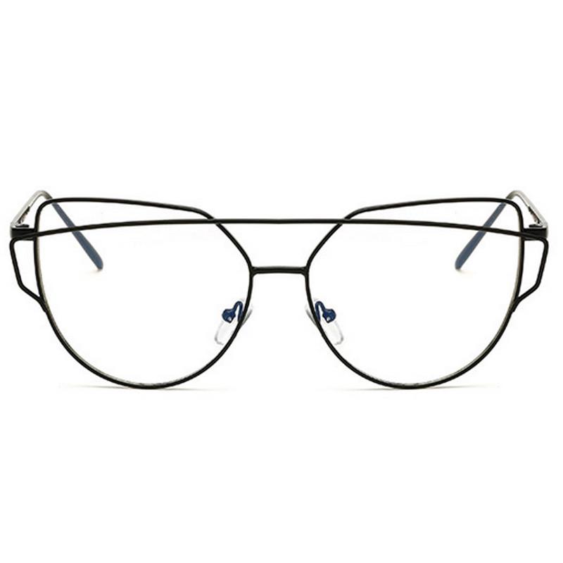 455cd8ad58 Transparent Spectacles Eyewear Optical Glasses Oversized Cat Eye ...