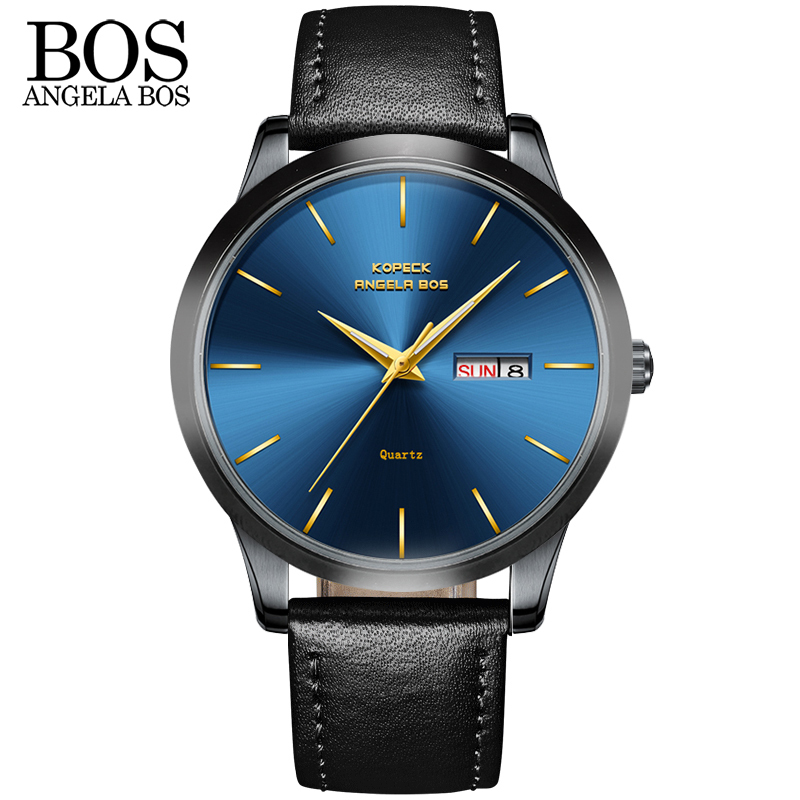 ANANGELA BOS Business Thin Black Horloge Heren Luxe Beroemde Merk - Herenhorloges - Foto 2