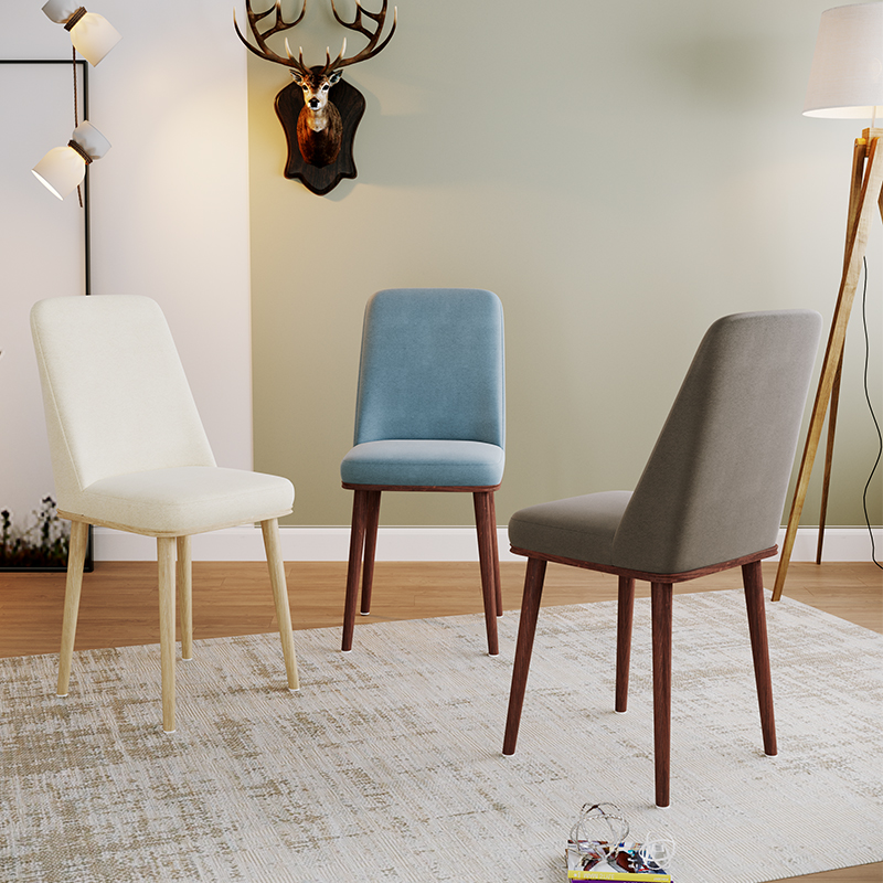 Nordic INS Dining Chair PU Fashion Creative Modern Minimalist Furniture Table and Chair Casual Coffee Office Home Chair in Dining Chairs from Furniture