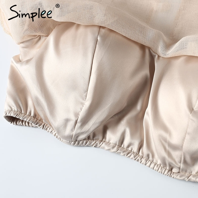 Simplee Off shoulder ruched sleeve blouse shirt Sexy summer backless cool blouse Beach split blouse blusa women tops streetwear