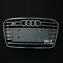 A5 S5 Style chrome frame grey Front Bumper Grill Grille Car styling for audi A5 2012
