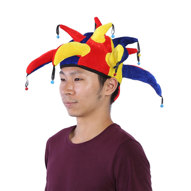 halloween party funny multicolor clown costume hat mardi gras carnival funny costume ball hats