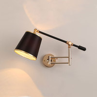 Creative adjustable arm wall lamp iron modern wall sconces indoor lightings for restaurant bar corridor aisle living room lights