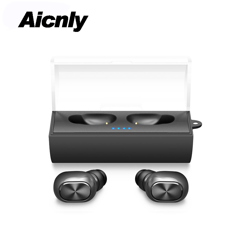 2018 Binaural Bluetooth 4.2 Hifi Headset Mini Tws Stereo Wireless Sports Earbuds In-ear Earphone With Mic+portable Charging Box стоимость