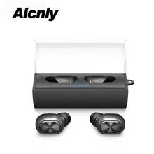 2018 Binaural Estéreo Sem Fio Bluetooth 4.2 fone de Ouvido de Alta Fidelidade Mini Tws Esportes Fones de Ouvido Fone de ouvido Com Microfone + Caixa de Carregamento portátil