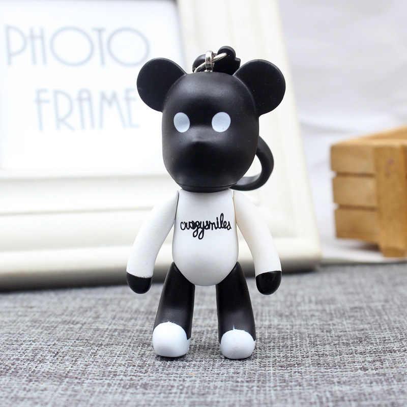 2019 coréen ours en peluche porte-clés hommes chaîne créative dames voiture porte-clés cadeaux pour enfants porte-clés pour femmes bijoux