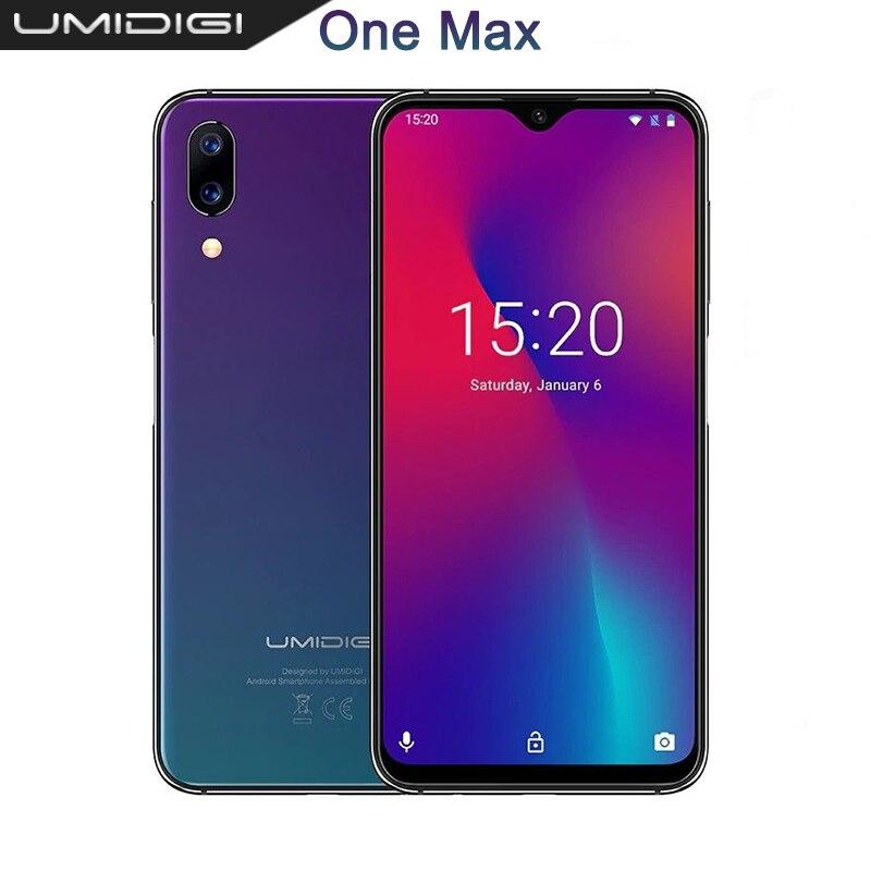 UMIDIGI One Max Waterdrop Full-Screen Mobile phone 4150mAh 4GB 128GB 6.3 Global Version Smartphone NFC Wireless Charging Face ID