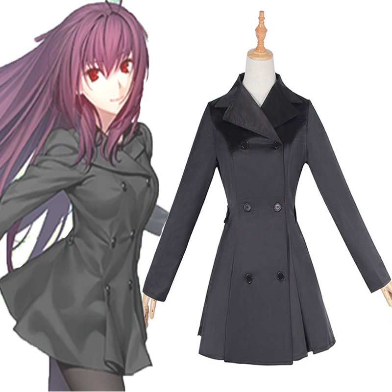 Game Fate Grand Order 3th Cosplay Costume Scathach Lancer Cosplay  Black Uniform Costumes Halloween Carnival Party Women Cosplay