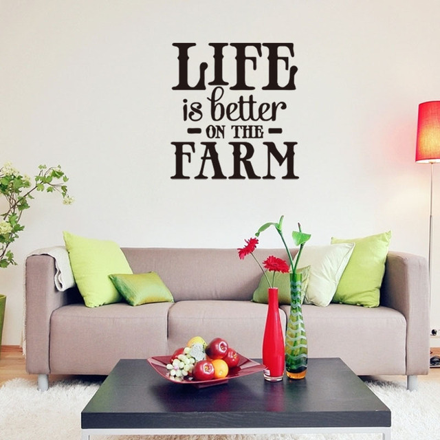 New Design Better Is Better On The Farm Living Room Wall Sticker Bedroom  Background Wallpaper Customized