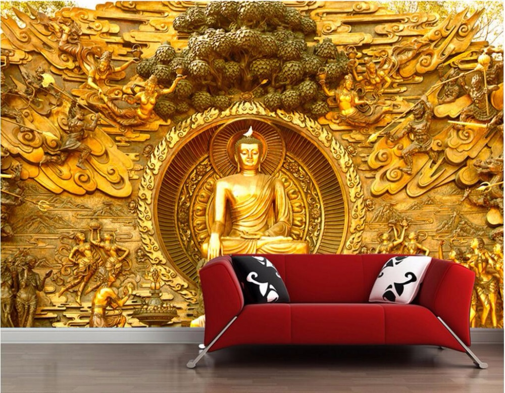 custom mural photo 3d wallpaper The great Buddha of lingshan came down decoration painting 3d wall murals wallpaper for wall 3d the custom of the country