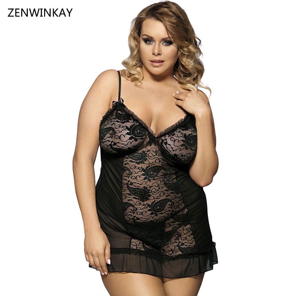Disfraces eróticos negro Negligee porno mujeres Sexy