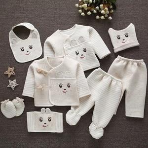 Image 2 - Emotion Moms (8 unids/set) ropa infantil 0 3M Ropa para bebe recién nacido conjuntos de ropa niño niños niñas traje térmico de algodón orgánico
