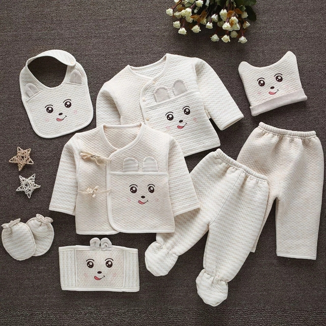 Clothing Set (8pcs/set) For Newborn Baby Baby Clothes Newborn (0-3 months) Pajamas Shop by Age