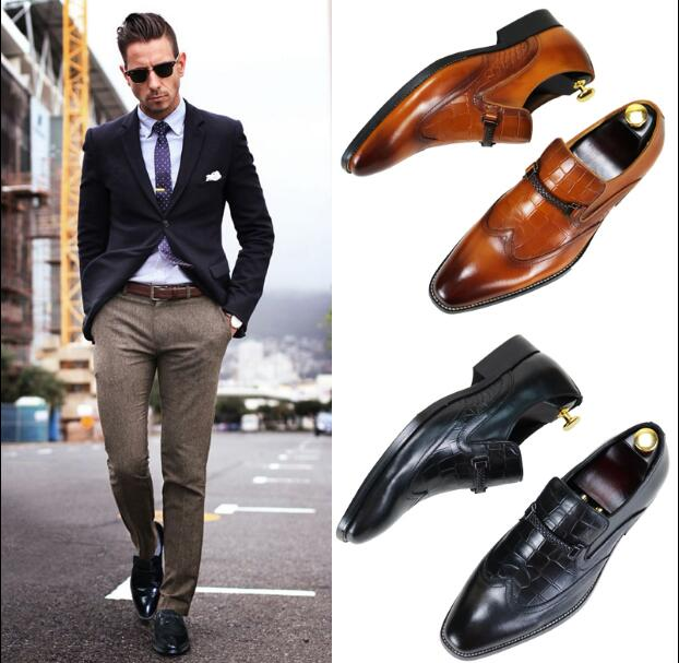 British dress shoes mens leather Goodyear mens shoes handmade color Brock carved shoes Oxford large size shoesBritish dress shoes mens leather Goodyear mens shoes handmade color Brock carved shoes Oxford large size shoes