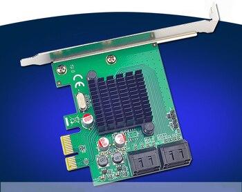 4 Ports Internal SATA3.0 6Gb/s PCI-E Expansion Card 88SE9215 Chipset for Marvell