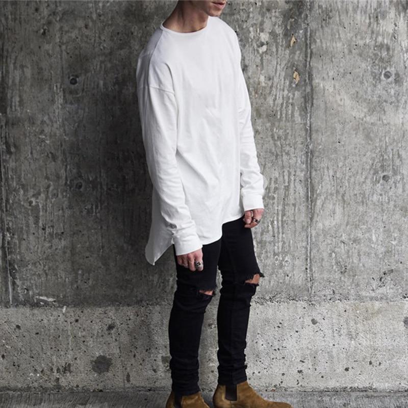 White Long Sleeve T Shirt Mens