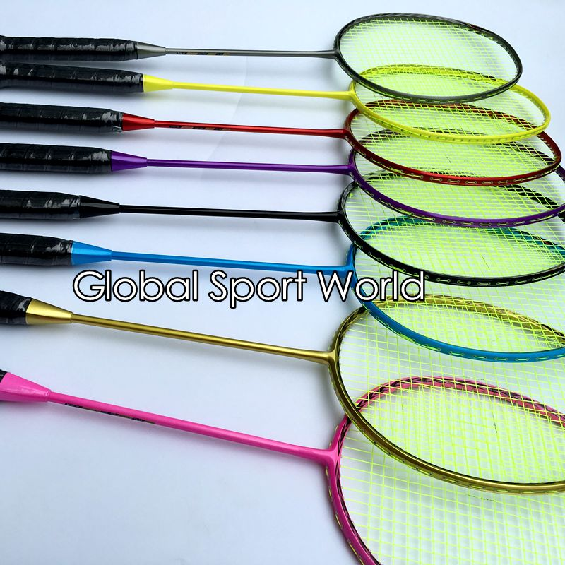 2017 New Arrival N80 3D Blade (4U 82g)Badminton Racket 100% Carbon Candy Colors Badminton Racquet Traning Racket Fluorescence