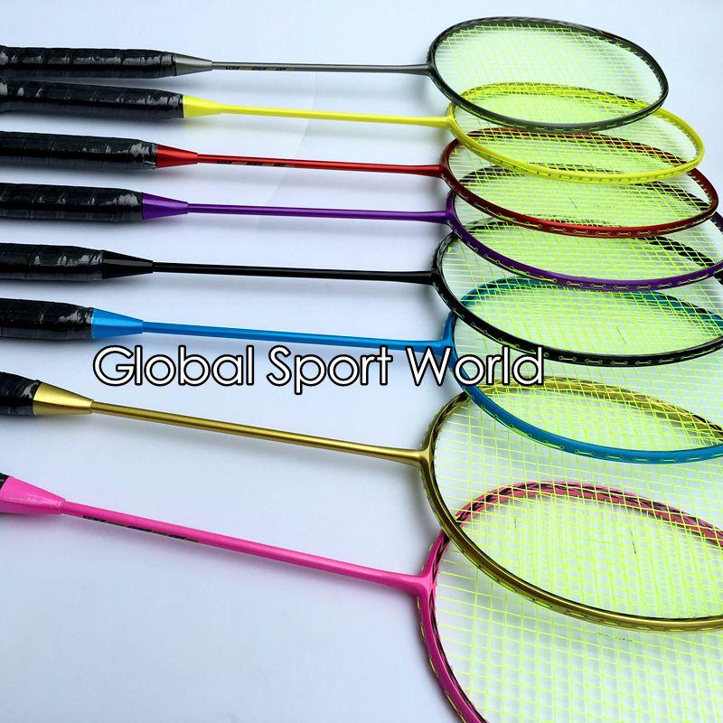 2017 New Arrival N80 3D Blade (4U 82g)Badminton Racket 100% Carbon Candy Colors Badminton Racquet Traning Racket Fluorescence