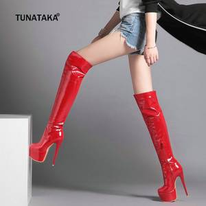 ad8d629e238 TUNATAKA Platform Over The Knee Boots Winter Women Shoes
