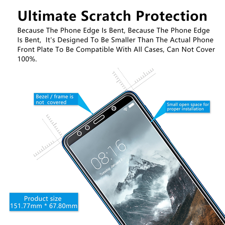 tempered glass screen protector for huawei p20 lite honor 6x 7x 8 9 10 lite(9)